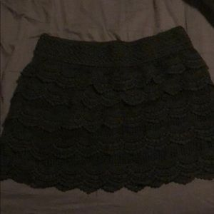 Crochet black lace skirt by jolt